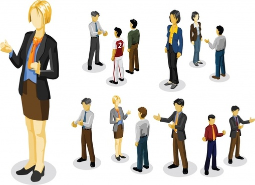 fashion icons contemporary design 3d characters sketch
