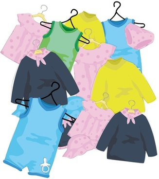 cartoon children39s clothes 01 vector