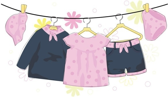 cartoon children39s clothing 03 vector