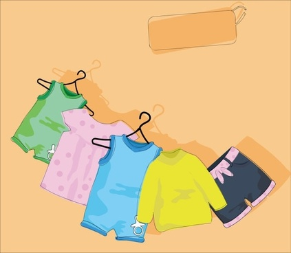 cartoon children39s clothing 05 vector