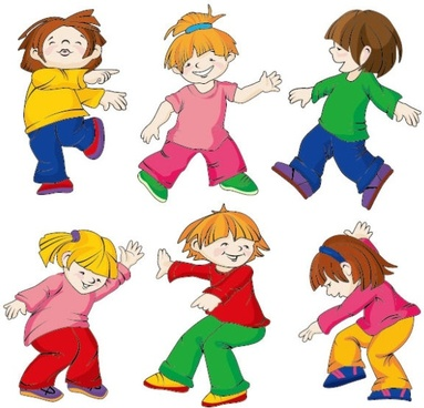 cartoon children 02 vector