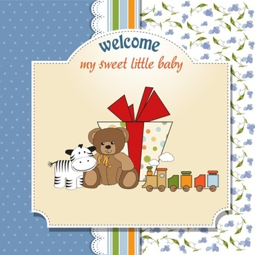 cartoon children card 03 vector