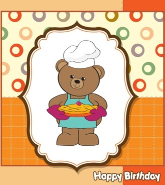 cartoon children card 04 vector