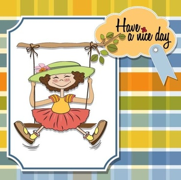 cartoon children cards design vector