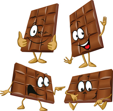 cartoon choco funny vector graphic