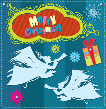 cartoon christmas and13 new year clipart vector