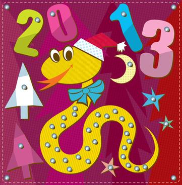 cartoon christmas and13 new year clipart vector