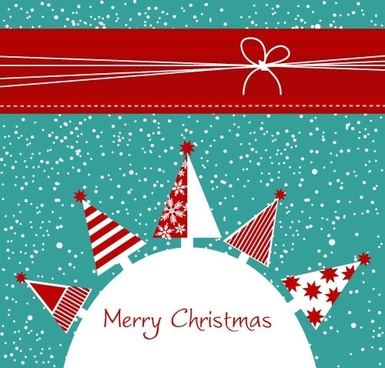 cartoon christmas background 02 vector