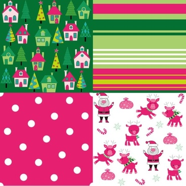 cartoon christmas background 04 vector