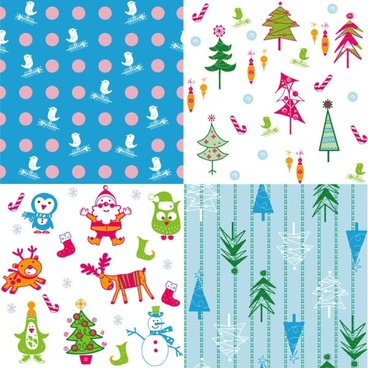 cartoon christmas background 05 vector