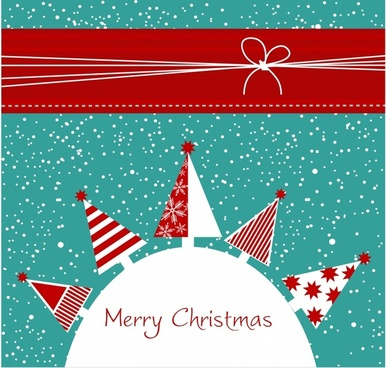 cartoon christmas background with snowflakes vector