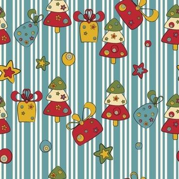 cartoon christmas design background 02 vector
