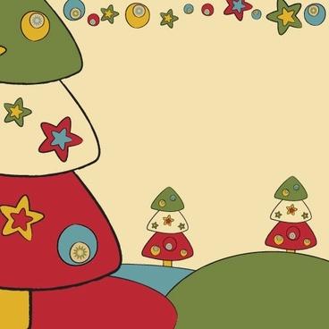 cartoon christmas design background 03 vector