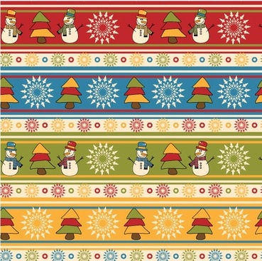 cartoon christmas design background 05 vector