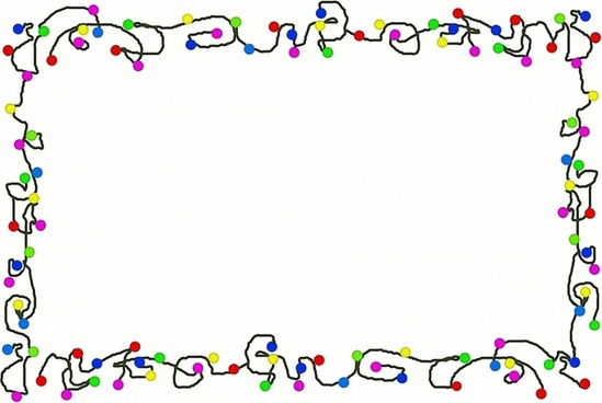 cartoon christmas lights border
