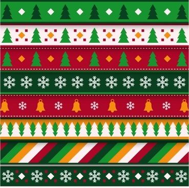 cartoon christmas pattern seamless vector
