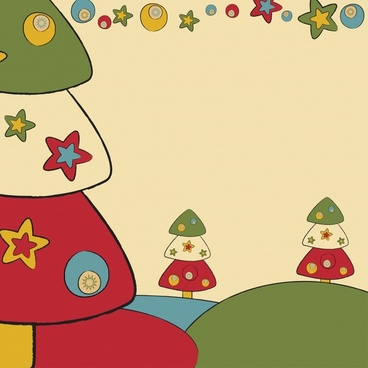 cartoon christmas pattern vector