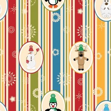 cartoon christmas snowman vector