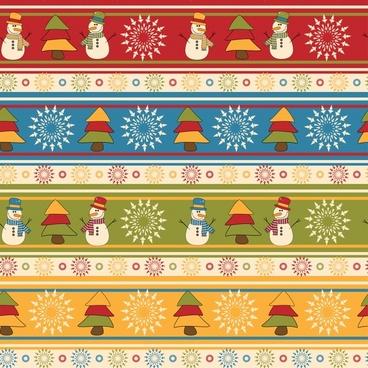 cartoon christmas tree design patterns vector