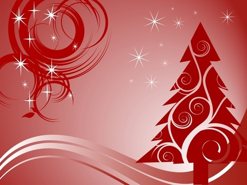 christmas background sparkling flat dynamic red decor