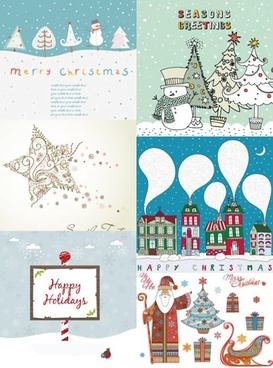 christmas card templates colorful classical decor