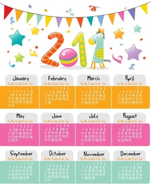 cartoon clip art calendar 2011