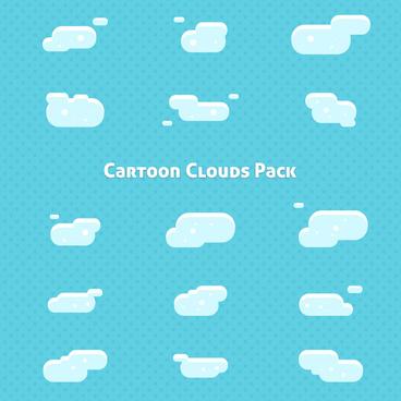 cartoon clouds pack