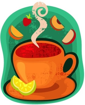 cartoon coffee cup stickers 04 vector