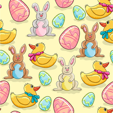 cartoon color eggs illustration vector