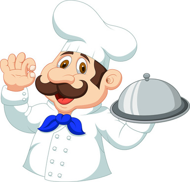 cartoon cook cute design vector