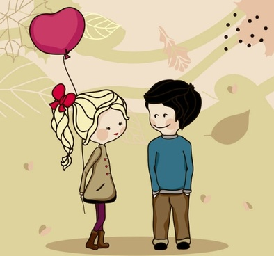 cartoon couple 04 vector
