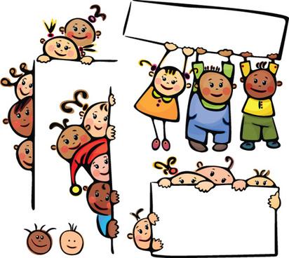 cartoon cute kids vector