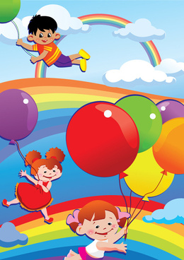 cartoon cute kids vector