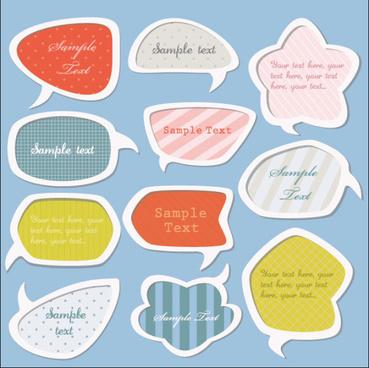 cartoon cute labels vector