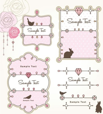 cartoon cute lace 02 vector
