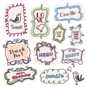 cartoon cute lace 04 vector