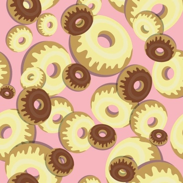 cartoon dessert background 04 vector