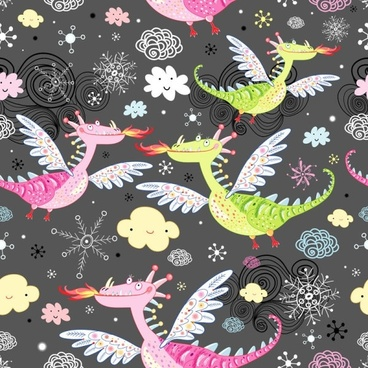 cartoon dinosaur illustrator background 02 vector