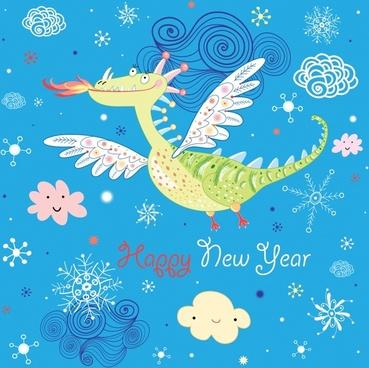cartoon dinosaur vector illustration background
