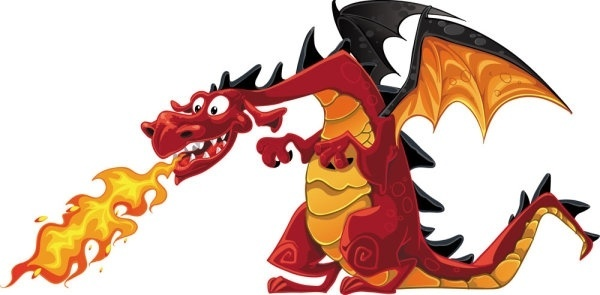 cartoon dragon image 01 vector