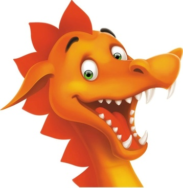 cartoon dragon image 05 vector