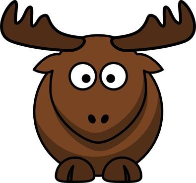 Cartoon Elk clip art