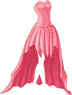 cartoon evening dress fashion vector illustration