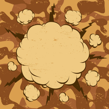 cartoon explosion frames vector set