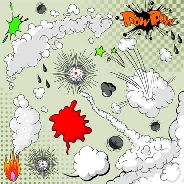 cartoon explosion pattern 02 vector