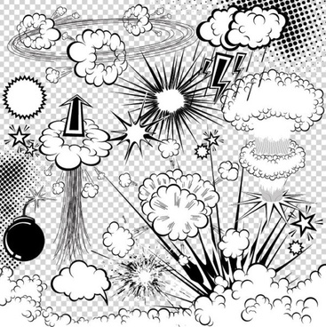 cartoon explosion pattern 03 vector