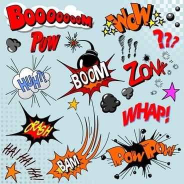 cartoon explosion pattern 04 vector