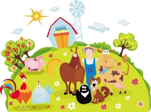 cartoon farm 04 vector