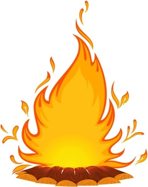 cartoon flame 01 vector