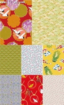 pattern templates collection colorful traditional eastern decor